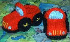 Receita de Tricô: Sapatinho carrinhos em trico