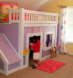 Image from http://lovi.yourmeattooth.com/wp-content/uploads/2015/03/Princess-bed-with-stairs-and-slide.jpg.