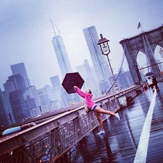 We love this image from @coco_labelle wearing #superdry  in a rainy New York City.