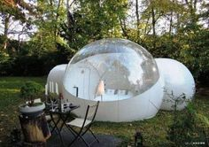 RelaxNow(TM) 2 Tunnel Transparent Bubble Tent Outdoor Inf...