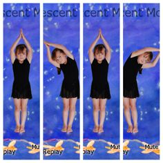 Crescent Moon Yoga For Kids, 4 Kids, Children, Preschool Yoga, Brain Gym, Massage, Mindfulness, Poses, Wellness