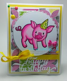 Here is my card using the new PARTY PIG stamp from Some Odd Girl Stamps! Hope you like it! Now run to the store and get it ;) Have a great day! Project Board, Have A Great Day, I Card, Paper Crafts, Party, Projects, Stamps, Store, Log Projects