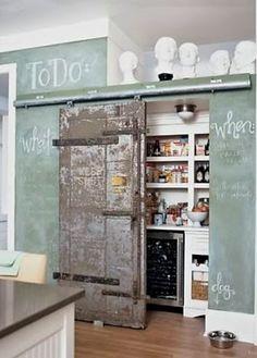 By Dream Box Interior Design The color of the chalk board!