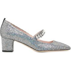 1ada49d80e2a Sjp By Sarah Jessica Parker Women 50mm Dazzle Glittered Mary Jane... ( 645.  Silver Mid HeelsSilver Glitter PumpsSarah ...
