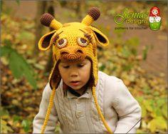 f6ffedba5c0 CROCHET PATTERN Giraffe Animal Hat for Baby by JENIASdesigns Half Double  Crochet