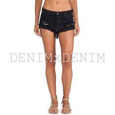 Levis high waisted black shorts denim cutoffs by DENIMxDENIM
