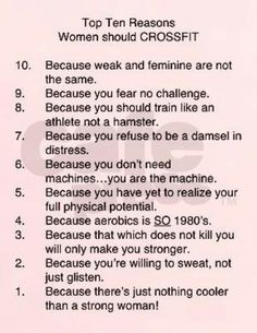 CrossFit : STRONG is the new skinny...HECK YEAH TO ALL OF THESE!!! LOVE IT!
