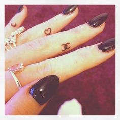 chanel finger tattoo. If I was the tattoo type- Christy Courtney of Coco Chanel.