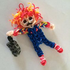 Rainbow Loom CHUCKY. SDesigned and loomed by tephanie Lupercio. Rainbow Loom Obsession FB page. o3/04/14