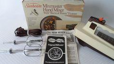 Vintage Sunbeam Mixmaster Hand Mixer 5 Speed Model 03076 Almond Heavy Duty 1983 #SunbeamMixmaster Ebay Shopping, Hand Mixer, Kitchen Mixer, Mixers, Almond, Model, Vintage, Scale Model