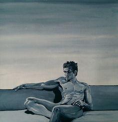 Sitting Man Acrylic on Canvas