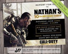 COD Advanced Warfare Birthday Invitation - Call of Duty Advanced Warfare Inspired Printable Invite - DIY Print your own - #1163