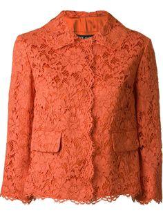Designer Blazers For Women : Dolce & Gabbana floral lace jacket Floral Jacket, Lace Jacket, Vestidos Plus Size, Mode Chic, Dolce & Gabbana, Fashion Fabric, Blazers For Women, Fashion Outfits, Womens Fashion