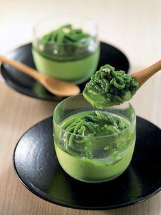 I don't know what this is but it's green so I want it「京都・東山茶寮」の「宇治抹茶モンブランプリン」