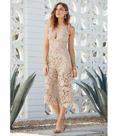 66631f585667 NWOT Dress The Population Women Marion Scalloped Lace Culotte Jumpsuit   Size S
