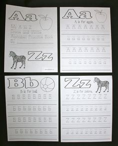 Classroom Freebies: ABC Trace and Write Upper and Lowercase Letter Boo...