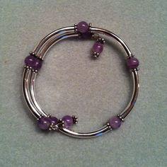 Memory Wire Bracelet -  popespizazz@gmail.com