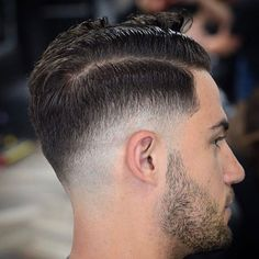 Low Razor Fade + Hard Side Part + Beard - Best Fade Haircuts For Men: Cool Men's Taper Fade Hairstyles - High, Low, Mid Fades Razor Cut Hair, Razor Fade, Hair Cuts, Straight Razor, Classic Mens Hairstyles, Modern Hairstyles, Cut Hairstyles, Hairstyle Ideas, Cool Haircuts