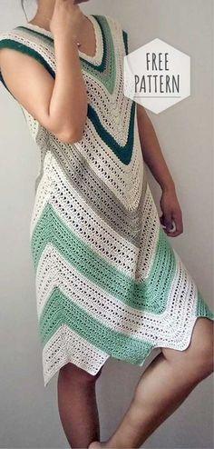 Crochet Colorful Summer Dress