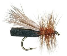 Don Puterbaugh's Foam Caddis: Hot Colors: Black, Tan, Olive. One of the most reliable adult caddis (dry) patterns, the Puterbaugh Foam Caddis is quite buoyant and durable. It's also versatile, sometimes fooling selective trout that are keyed on small terrestrials, like black ants. Photo by Courtesy of Umpqua Feather Merchants