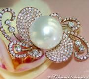 Extravaganter Südseeperle Ring mit Brillanten image