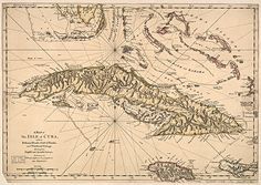 Antique Caribbean Map, quality giclee reproduction either unframed or framed in vintage wood burl frame. Custom sizes, made in USA by Museum Outlets.