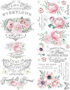 Excited to share this item from my shop: ReDesign by Prima overflowing Love Decor Rub On Transfer x Rue Montmartre, Rub On Transfers, Decoupage Printables, Foto Transfer, Chalk Paint Colors, Shabby Chic Crafts, Decoupage Vintage, Paris Ville, Furniture Decor