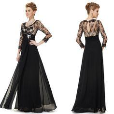 Černé společenské šaty s krajkou nejen do opery