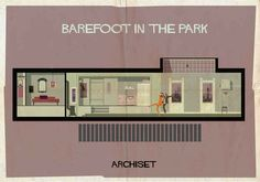 Barefoot In The Park (1967). | 17 Gorgeously Geeky Posters Of Classic Film Interiors