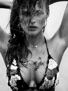 #editavilkeviciute #FASHIONPHOTOGRAPHY #FASHION #JANWELTERS #BW #SEA #FASHION #MODE #SAND #CLOSEUP #SWIMMING