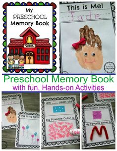 Cute Preschool Memory Book with Hands-on activities. #preschool #kindergarten #memorybook