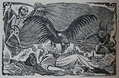 José Guadalupe Posada - Las plagas que amenazan a Mexico American Artists, Colored Pencils, Printmaking, Mexico, Ink, Skeletons, History, Drawings, Skulls