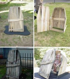 22 Halloween Decorations Made Out Of Recycled Pallets Home Accessories