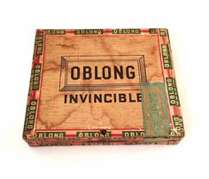 Vintage #Invincible Oblong #Crooks Wine Dipped Wooden #CigarBox Only Nail Top 5c