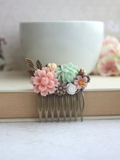 Hey, I found this really awesome Etsy listing at http://www.etsy.com/listing/114663013/blush-baby-pink-flower-soft-green-rose