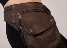 Leather Hip Pouch: bumbag pocket belt fanny pack by ForageDesign