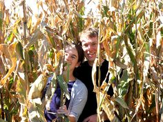 couple in iowa corn