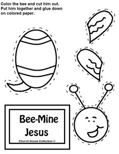 Church House Collection Blog Bee Mine Jesus Cutout Craft For Kids In Sunday School