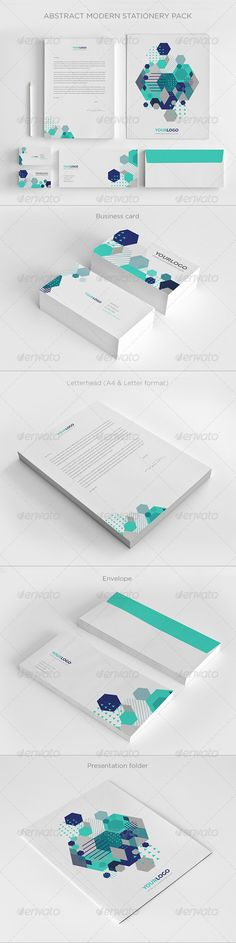 Abstract Modern Stationery Pack - Stationery Print Templates