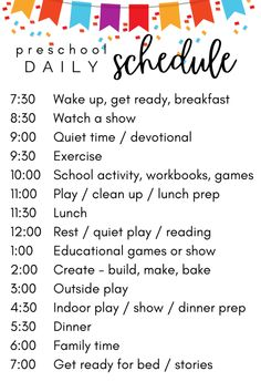 our preschool daily schedule & game plan while school is out | What You Make It