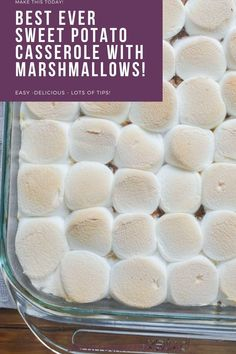 A classic side dish for Thanksgiving and amazing sweet potato casserole made with creamy sweet potatoes, a streusel topping, and toasted marshmallows!  Sweet potato casserole with marshmallows is a cross between a side dish and a dessert!  The holidays are not complete without this delicious side dish and this one is dairy and gluten-free! Paleo Fall Recipes, Healthy Eating Recipes, Dairy Free Recipes, Holiday Recipes, Whole Food Recipes, Gluten Free, Paleo Thanksgiving, Thanksgiving Side Dishes, Paleo Side Dishes