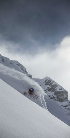 Powder down. Philippe Meier #freeskiing Image: Dom Daher/Red Bull Content Pool www.redbull.com/snow