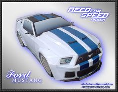 Need for Speed - Ford Mustang Paper Car Free Paper Model Download - http://www.papercraftsquare.com/need-speed-ford-mustang-paper-car-free-paper-model-download.html