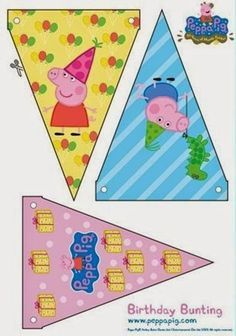 Check out this adorable birthday bunting for your Peppa Pig party! Peppa E George, George Pig Party, Peppa Pig Printables, Party Printables, Pig Birthday, 3rd Birthday Parties, Birthday Bunting, Party Bunting, Birthday Ideas