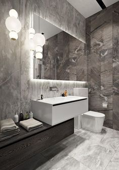 Fresh contemporary and luxury bathroom design ideas for your home. Bad Inspiration, Bathroom Inspiration, Modern Bathroom Design, Bathroom Interior Design, Modern Luxury Bathroom, Washroom Design, Interior Livingroom, Diy Interior, Contemporary Bathrooms