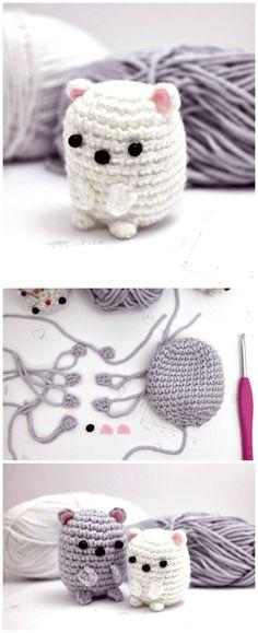Crochet Stuff Bears Patterns Free Crochet Kawaii Polar Bear Pattern - Crochet Amigurumi - 225 Free Crochet Amigurumi Patterns - Page 2 of 4 - DIY Kawaii Crafts, Cute Crafts, Yarn Crafts, Diy Crafts, Crochet Gifts, Diy Crochet, Crochet Dolls, Crochet Kawaii, Crochet Amigurumi Free Patterns