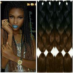 Dark Chocolate Ombre Box Braids!!!! Ombré Braiding Hair Now On Sale!