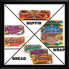 only bread I eat! Love the wraps, bread and cinnamon raisin English muffins! Healthy Eating Recipes, Healthy Fats, Healthy Cooking, Healthy Grains, Nut Recipes, Whole Food Recipes, Ezekiel Bread Benefits, Clean Eating Plans, Fast Metabolism Diet