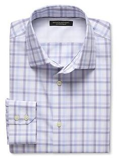 Slim-Fit Non-Iron Open Check Shirt