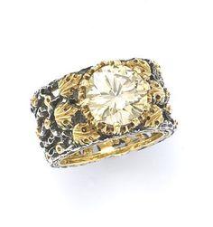 BUCCELLATI GOLD AND DIAMOND RING